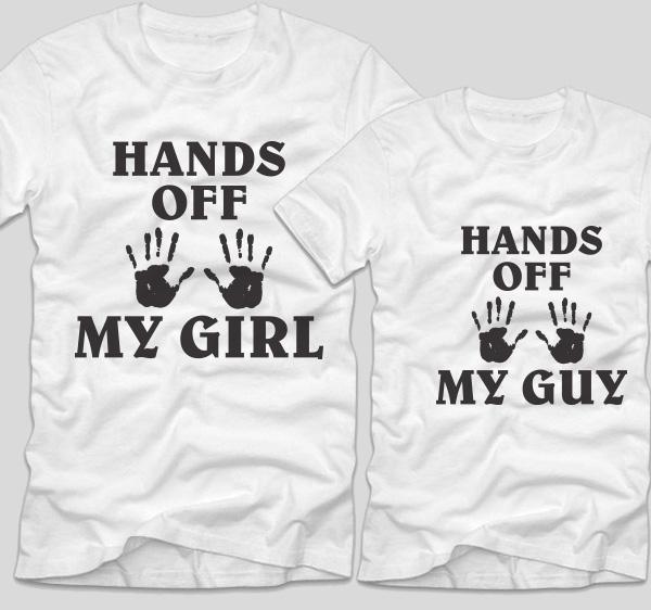 tricou-albe-bumbac-cu-mesaje-pentru-cupluri-hands-off-my-girl-si-hands-of-my-guy