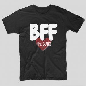tricou-negru-bff-the-cute