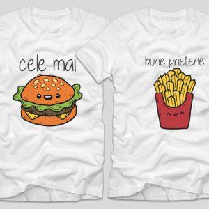 tricouri-albe-bff-cele-mai-bune-prietene-burger-cartofi-prajiti