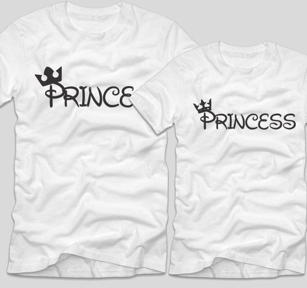 tricouri-albe-cu-mesaje-pentru-cupluri-prince-si-princess