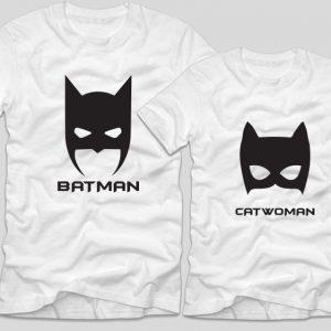 tricouri-albe-pentru-cupluri-catwoman-si-batman