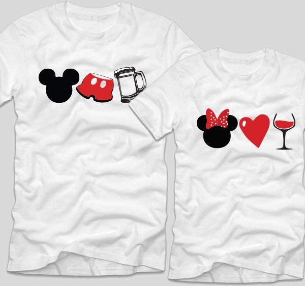 tricouri-albe-pentru-cupluri-cu-mesaje-mickey-si-minnie