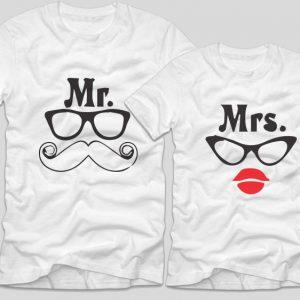 tricouri-albe-pentru-cupluri-cu-mesaje-mr-moustace-mustata-si-mrs-lips-buze