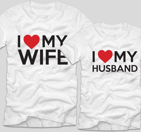 tricouri-albe-pentru-cupluri-i-love-my-wife-si-i-love-my-husband