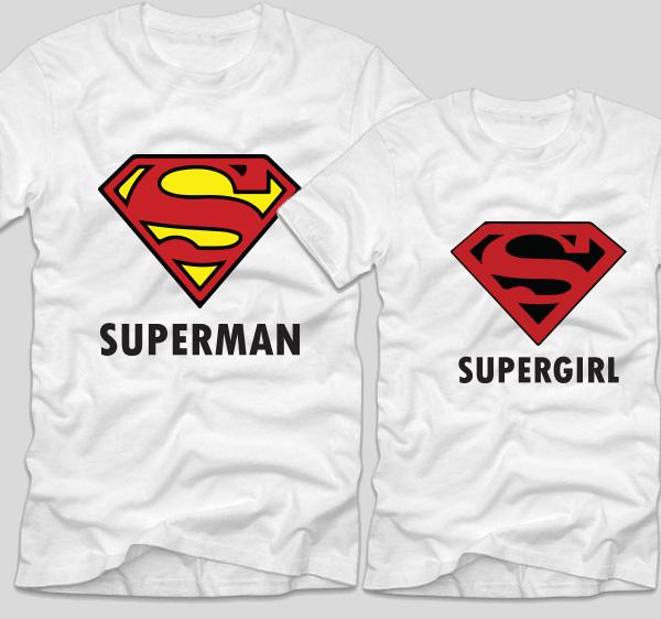 tricouri-cu-mesaje-pentru-cupluri-albe-superman-si-supergirl-bumbac