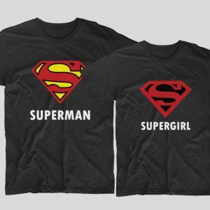 tricouri-cu-mesaje-pentru-cupluri-negre-superman-si-supergirl-bumbac