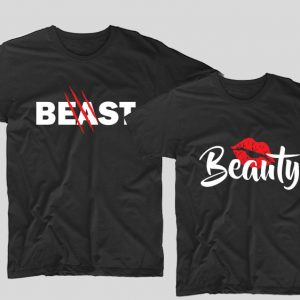 tricouri-negre-pentru-cupluri-beauty-and-the-beast