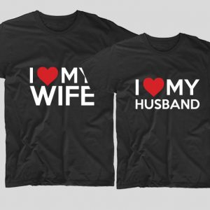 tricouri-negre-pentru-cupluri-i-love-my-wife-si-i-love-my-husband