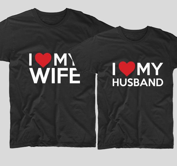 tricouri-negre-pentru-cupluri-i-love-my-wife-si-i-love-my-husband