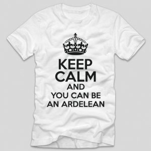 tricou-alb-cu-mesaj-haios-pentru-ardeleni-keep-calm-and-you-can-be-an-ardelean
