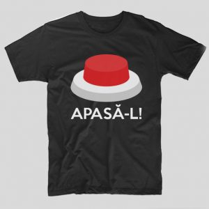 tricou-negru-cu-mesaj-haios-buton-rosu-apasa-l