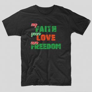 freedom-negru-tricou-festival