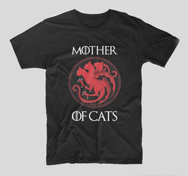 tricou-got-mother-of-cats-negru