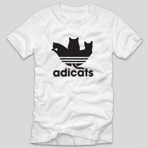 tricou-alb-cu-mesaj-haios-adicats-adidas-pisici-cats