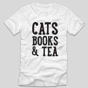tricou-alb-cu-mesaj-haios-pentru-iubitoarele-de-pisici-cats-books-and-tea