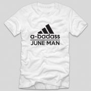 tricou-aniversare-luna-nasterii-haios-model-engleza-alb-adidas-a-badass-june-man
