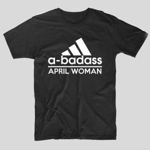 tricou-negru-cu-mesaj-haios-adidas-a-badass-april-woman