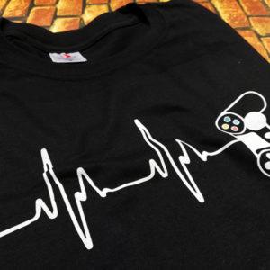 tricou-negru-cu-mesaj-haios-gaming-pulse-poza-reala