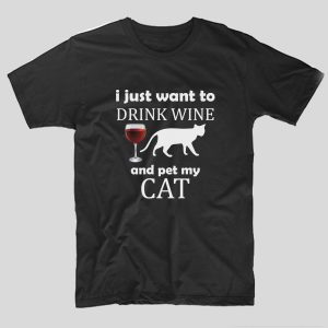 tricou-negru-cu-mesaj-haios-i-just-want-to-drink-wine-and-pet-my-cat