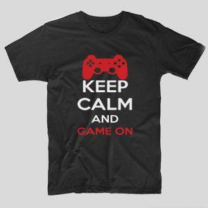 tricou-negru-cu-mesaj-haios-pentru-gameri-in-engleza-keep-calm-and-game-on