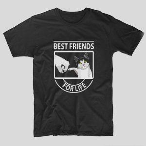 tricou-negru-cu-mesaj-haios-pentru-iubitorii-de-pisici-best-friends-for-life