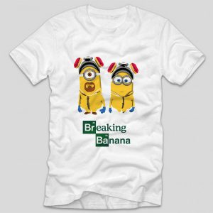 tricou-alb-cu-mesaj-breaking-banana-breaking-bad