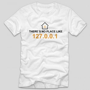 tricou-alb-cu-mesaj-haios-pentru-programatori-theres-no-place-like-home