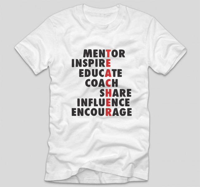 tricou-alb-haios-pentru-profesori-teacher-mentor-inspire-educate-coach-share-influence-encourage