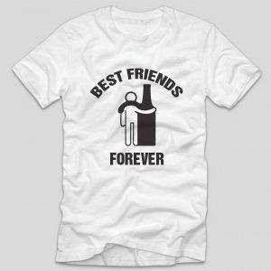 tricou-haios-alb-bautura-best-friends-forever