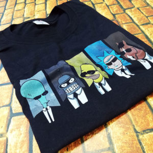 tricou-negru-reservoir-cartoon-rick-and-morty