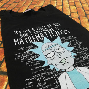 tricou-negru-rick-and-morty-piece-of-shit-and-i-can-prove-it-mathematically