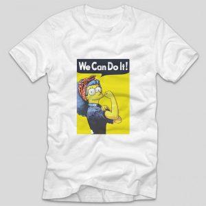 tricou-alb-cu-mesaj-haios-fan-the-simpsons-we-can-do-it