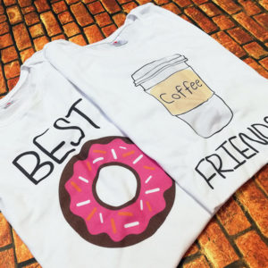 tricouri-albe-bff-best-friends-donut-gogoasa-si-coffe-cafea