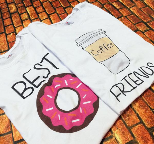 tricouri-albe-bff-best-friends-donut-gogoasa-si-coffe-cafea