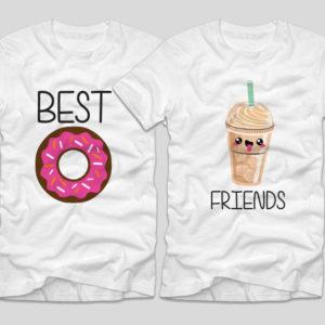 tricouri-albe-cu-mesaje-pentru-bff-donut-gogoasa-frappe-best-friends