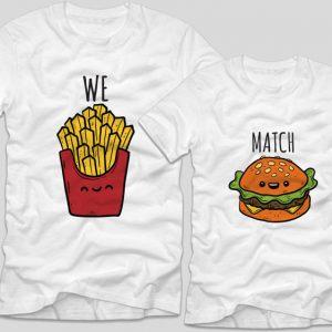 tricouri-albe-cupluri-we-match-burger-cartofi