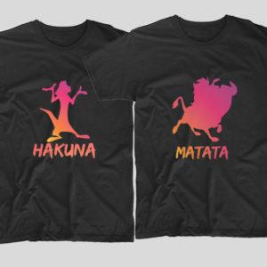 tricouri-negre-cu-mesaje-haioase-hakuna-matata-timon-pumba