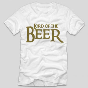tricou-alb-cu-mesaj-haios-lord-of-the-beer
