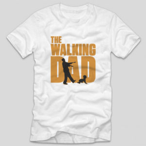 tricou-alb-cu-mesaj-haios-walking-dad