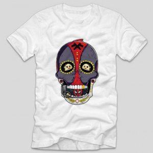 tricou-alb-cu-ilustratie-haioasa-deadpool-skull