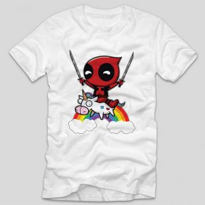 tricou-alb-cu-mesaj-haios-deadpool-unicorn