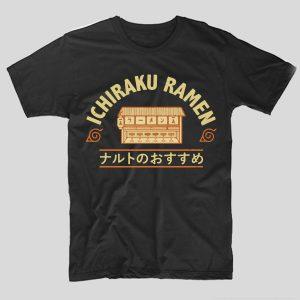 tricou-negru-cu-mesaj-ilustratie-inspirata-din-naruto-ichiraku-ramen