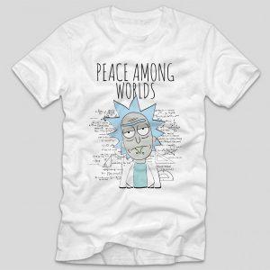tricou-alb-cu-mesaj-rick-si-morty-peacetricou-alb-cu-mesaj-rick-si-morty-peace-among-worlds-among-worlds