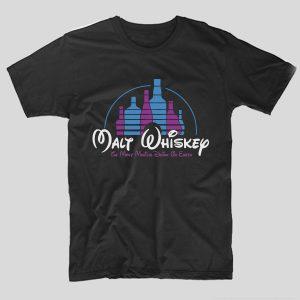 tricou-negru-cu-mesaj-haios-malt-disney-the-most-magical-drink-on-earth