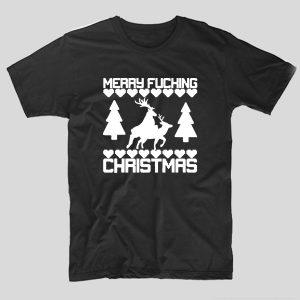 tricou-craciun-merry-christmas-reindeers-negru
