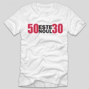 tricou-aniversare-alb-50-este-noul-30
