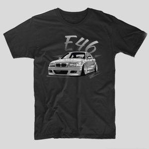 tricou-auto-bmw-e46-tricou-masini-negru