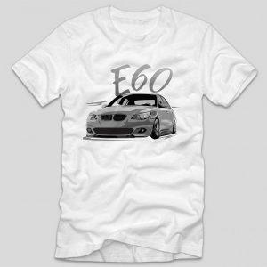 tricou-auto-bmw-e60-tricou-masini-bmw-alb