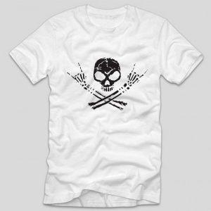 tricou-alb-cu-mesaj-rock-tricou-rock-skull