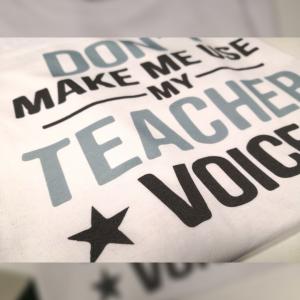 tricou profesor haios dont make me use my teacher voice
